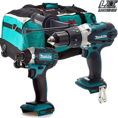 Makita DHP458Z Combi Drill With Makita DTD152Z 18v Impact Driver With LXT600 Bag