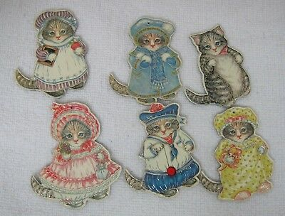 Vintage Kitty Cucumber 1983 Merrimack Paper Ornaments Thick Paper  BBask