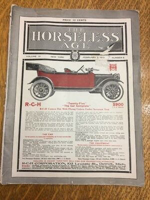 VINTAGE Original THE HORSELESS AGE, February 5, 1913, Vol. 31, No. 6.  NICE!