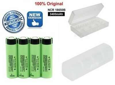 Genuine Panasonic 18650 3400mAh Rechargeable Battery NCR18650B With Free CASE