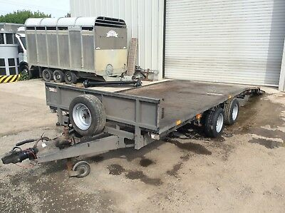 Ifor Williams Flatbed Trailer 16ft x 6ft6inch Beaver tail