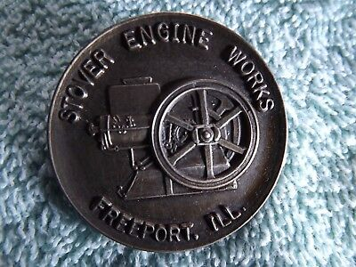 Stover  Engine Works Freeport Ill Pin Back Button