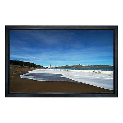 """150"""" Fixed Projector Screen HD White 16:9 Aluminum Frame Home Theater Projection"""