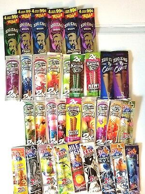 12 packs Flavor Wraps Double Platinum  Zig Zag  2XXLRoyal Blunts 2 wraps per pk