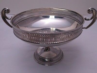 Sterling Silver Tazza - Stunning Design, With Pierced Decoration