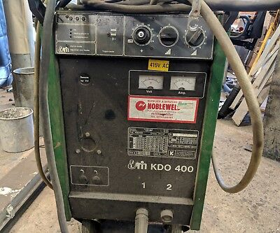 3ph Migatronic 400 Water Cooled Mig Welder - 400 amps! with Separate Wire Feed