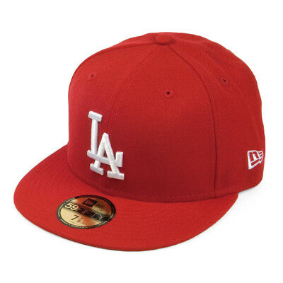 fcf38c4911ee39 New Era MLB Los Angeles Dodgers Red White Logo 59FIFTY Fitted Cap Hat NewEra