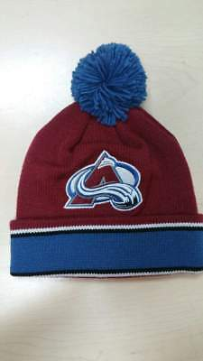 41253c2c45a Mitchell   Ness NHL Colorado Avalanche Team Logo Cuffed Pam Knit Beanie Hat  Cap