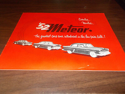 1952 Meteor Canadian 16-page Sales Catalog  / Scarce !!
