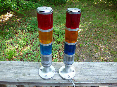 2 Patlite Signal Tower STF & STF-V Sasaki 12V Beacon Lights Model SZ-010