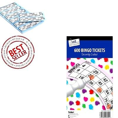 600 Bingo Cards 100 Sheets Book Tickets Pads Security Coded  -WH2 -R3B -024 -NEW