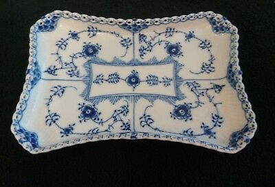 Royal Copenhagen Blue Fluted Full Lace Pierced Cream and Sugar Dish #1195