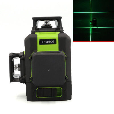 12 Line 360° Rotary Green/Red Laser Level 3D Leveling Vertical Horizontal Cross