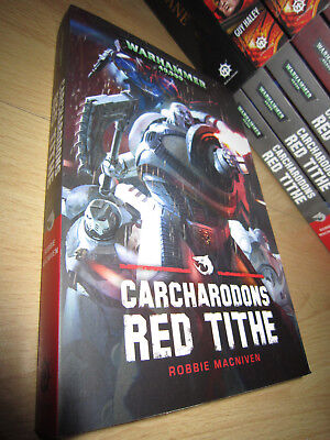 SIGNED Robbie MacNiven CARCHARODONS: RED TITHE 1st/PB MINT Warhammer 40K
