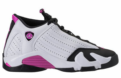 2018 Nike Air Jordan Retro 14 XIIII Fuchsia Blast Girls GS 654969-119 Sz:4Y-9.5Y