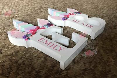 Personalised Wooden UNICORN letters 20cm Freestanding Gift Embellishments