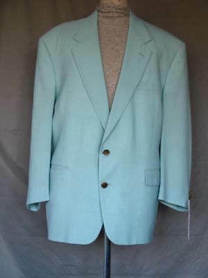 Vintage 1980's Country Club Blazer Sport Coat Pale Green