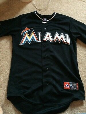 Miami Marlins Embroidered Baseball Jersey Mens Size Small