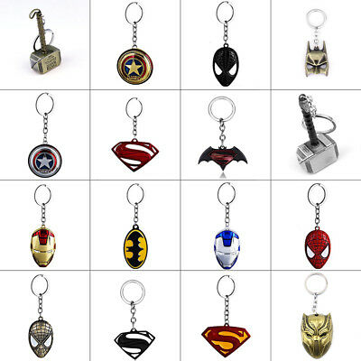 Avengers Marvel Super Hero Thor Captain America Keyring Key Ring Chains Fobs