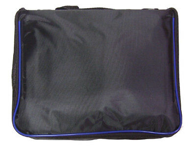 Small Collector Lapel Pin Bag - 5 Page Black W/ Blue Piping