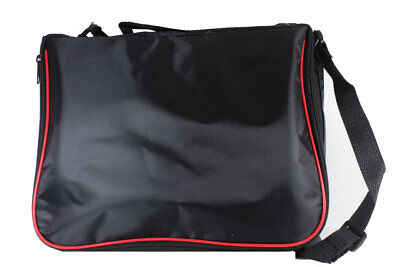 Small Collector Lapel Pin Bag - 5 Page Black W/ Red Piping