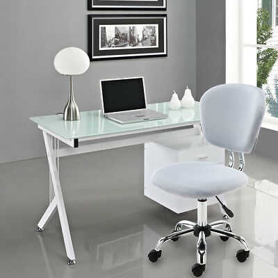 YAMASORO Mesh Office Chair Computer Desk Adjustable Fabric Swivel Wheel Grey