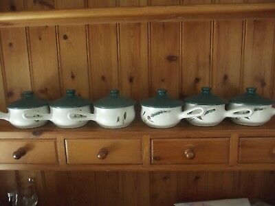 Denby Greenwheat Lidded Soup Cups