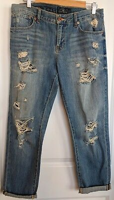Lucky Brand Jeans Women's Size 8/29 Sienna Cigarette Light Rinse DISTRESSED