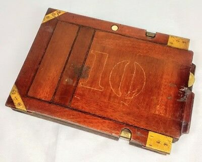 Unusual Antique Wooden camera Film Back Plate Holders
