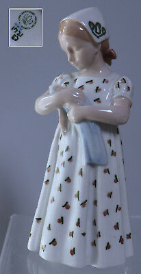 Bing Grondahl Girl with fish Doll Mary B & G  Denmark #1721