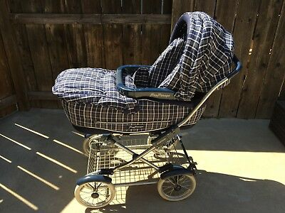Rare Vintage Perego REGAL Pram Folding Baby Carriage Stroller w/ Removable Chair