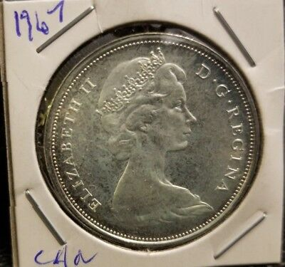 Brilliant Uncirculated 1867-1967 50 Cent Silver Howling Wolf