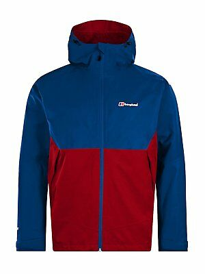 Berghaus Waterproof Fellmaster Mens Outdoor Hooded Jacket available in Red Dahli