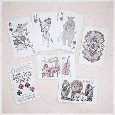 African Orchestra ~ Hand Illustrated Playing Cards featuring Animals Playing ...