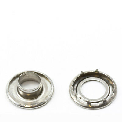 "Grommets, #4 Stainless Steel, Heavy Duty Rolled Rim Spur, 1/2"" Inch Hole"