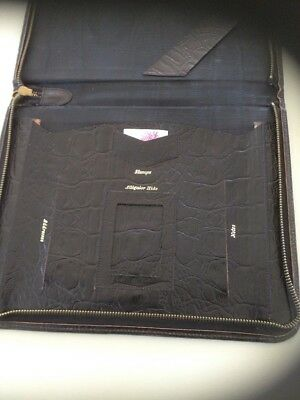 Collectable Alligator Hide Leather Stationary Organiser