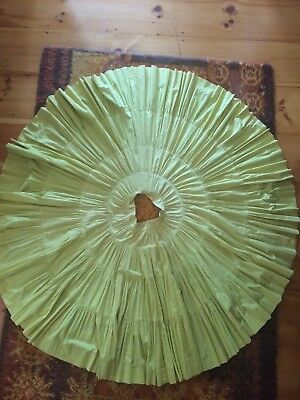 "1950s Broomstick Tiered Full Circle Skirt Gold Yellow Pinup Patio Squaw 25/26"" W"