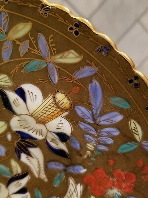 RARE and amazing, hand painted antique Royal Vienna fluted cabinet plate