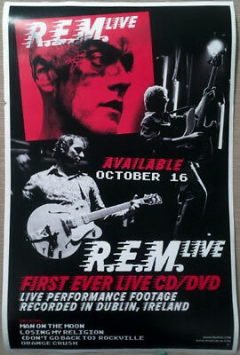 "R.E.M. Live Dublin 2007- 2 Sided Promotional Poster 11"" X 17"" Alternative 90s"
