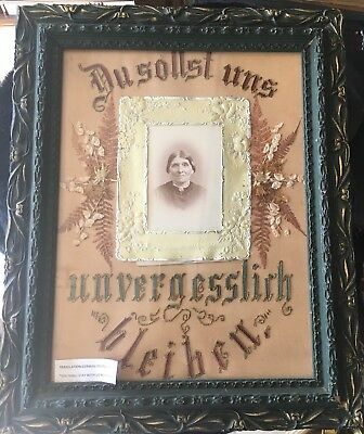 Beautiful Mid to Late 19th Century German Framed Memoriam Display
