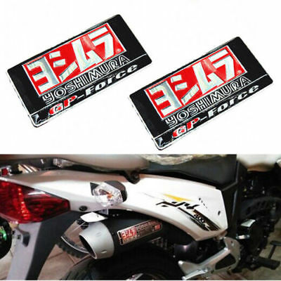 2PC Yoshimura Sticker Aluminium Heat-resistant Motorcycle Exhaust Pipe Decal