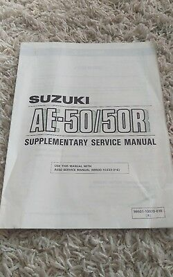 1993 Suzuki AE-50 AE-50R Scooter Supplementary Repair Service Shop Manual OEM