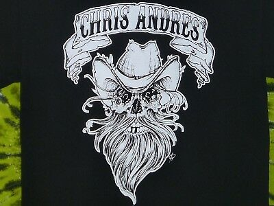 CHRIS ANDRES Authentic Outlaw Country T-shirt M