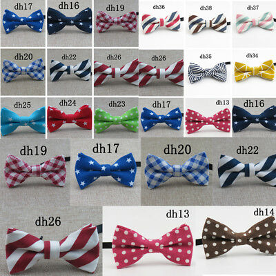 Boys Kids Childrens Pre Tied BOW TIE Wedding Bowtie Party Classic Prom Office