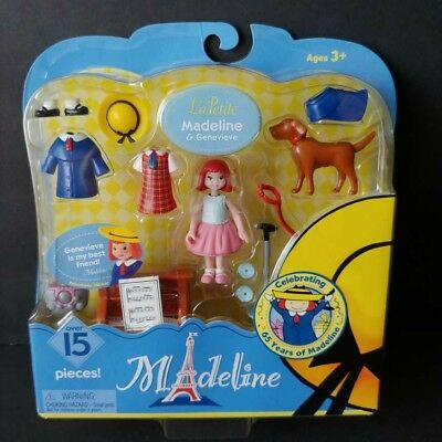 La Petite Madeline and Genevieve Puppy Dog Playset Piano Doll Sealed New