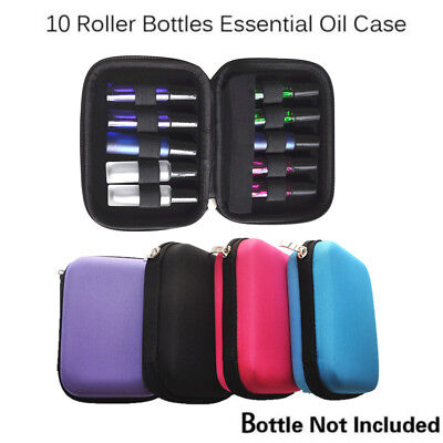 10 Roller Bottles Essential Oil Case Carry Holder Storage Aromatherapy Bag Hot