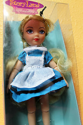 "Madame Alexander ALICE In Wonderland Doll Story Land Travel Friends 7"" Jointed"