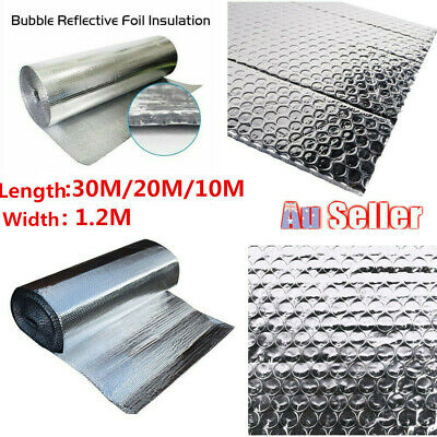 Air Bubble Aluminium Foil Insulation Roll Reflective Radiant Vapor Barrier OZ
