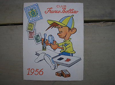 Jacovitti Illustration Unpublished Club Franco Sticker 1956 Card Membership