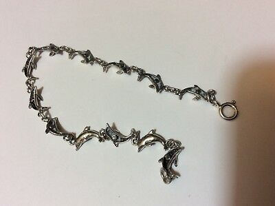 Small Dolphin sterling bracelet